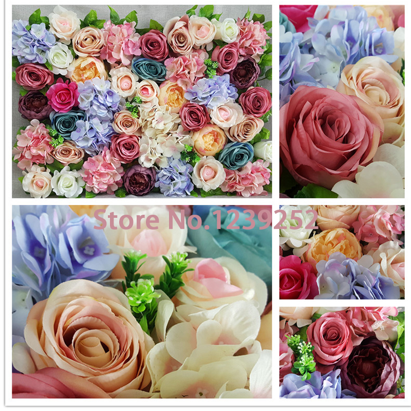 New 10pcs Artificial Silk Flowers Wall Decorative Flowers Wall For