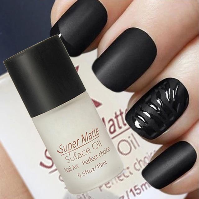 15ML matte top coat for gel nail polish and nail polish, nail art ...