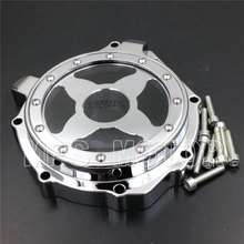Motorcycle Accessories Left  Engine Stator cover see through For Honda CBR1000RR 2004 2005 2006 2007 Chrome