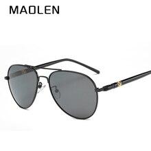 MAOLEN Men Polarized Sunglasses Driving Sunglasses Alloy Frame Aviation Oculos De Sol Masculino Sun Glasses  209