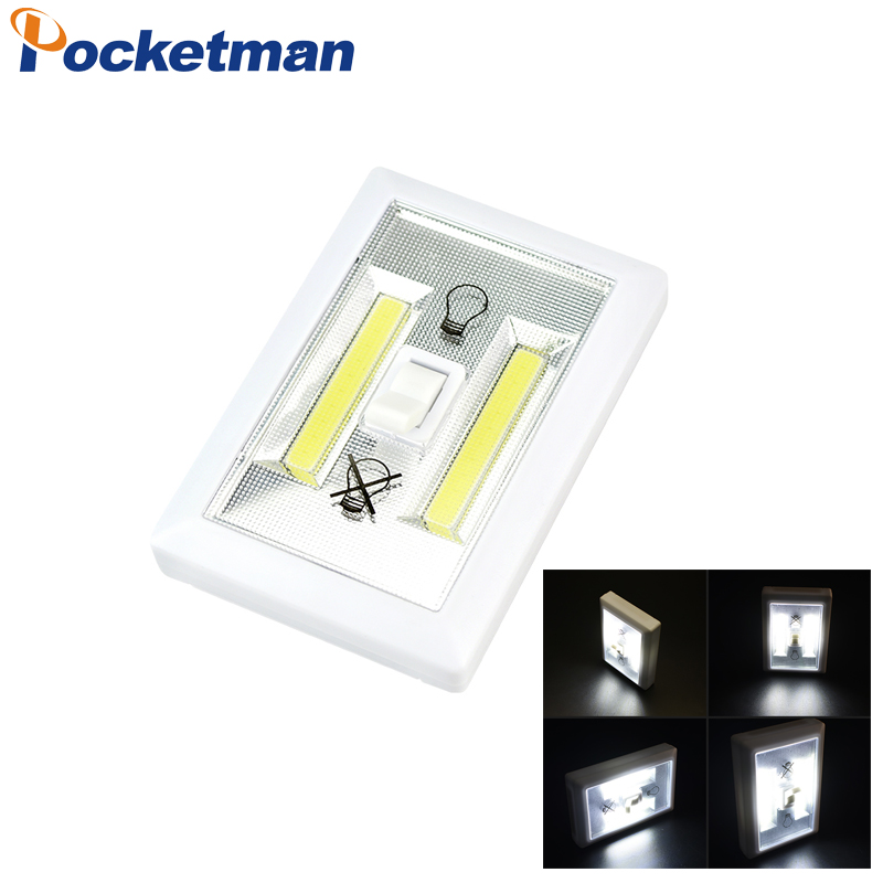 Magnetic Cob Led Switch Wall Night Lights Cordless Lamp
