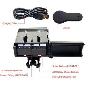 Image 3 - Dual Battery Diving Flash Light Underwater Led Fill Light For Gopro Hero8 7 6 5 4 Session 3+3 Xiaomi yi 4K Insta360 Accessories