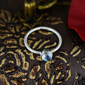 S925 Sterling Silver Silver Hand inlaid natural Moonstone Ring twist edge