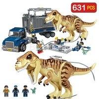 Dinosaur Transport Tyrannosaurus Rex Prehistoric Animal Blocks LegoINGLYS Jurassic World Movie Building Blocks Toys For Children