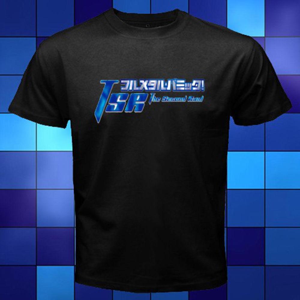 New Fullmetal Panic Anime Manga Black T-Shirt Size S M L XL 2XL 3XL 3XL T Shirt Summer Style Fashion Men T Shirts Top Tee