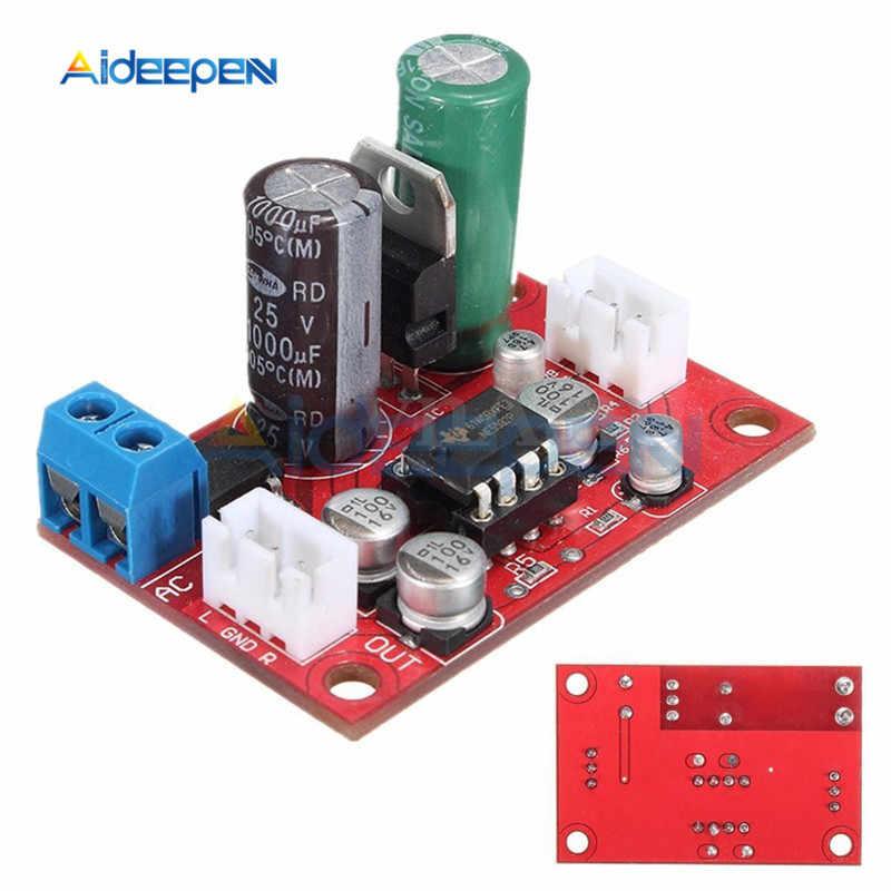 لوح مكبر صوت مسبق NE5532 صوت OP AMP لفائف متحركة ميكروفون مغناطيسي وحدة مكبر صوت فونو تيار مستمر 9 فولت-24 فولت تيار متردد 8 فولت-16 فولت