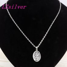 50pcs Antiqued Silver Alloy Divino Nino De Colombia Charm Pendant necklace Clavicle chain C14