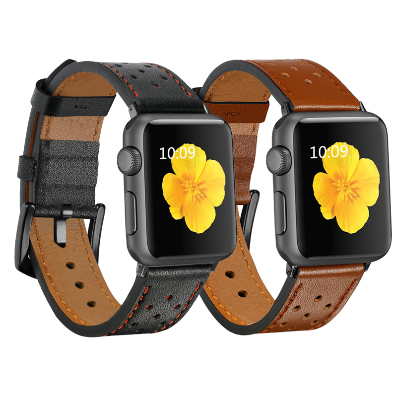 Genuine Leather Strap For Apple Watch Band 42mm 38mm