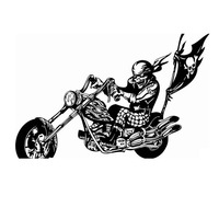 Motorcycle Sticker Vehicle Decal Classic Punk Skull Posters Vinyl Wall Decals Autobike Parede Decor Mural Autocycle Sticker