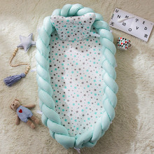 90*55cm Baby Nest Bed Portable Crib Travel Bed Infant Toddler Cotton Cradle For Newborn Baby Bassinet Bumper Bed extra big size baby bed length 120cm can load adult no paint baby crib newborn baby cradle rocking bed
