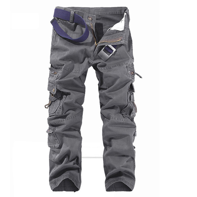 Brand New Cargo Pants Military Army Straight Pants Men Cotton Casual Solid Multi Pocket Trousers 5 Colors