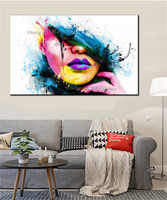 Wall Art For Large Walls Fashion Canvas Painting Sexy Women Face Picture Abstract Figures Oil Painting For Room Decor
