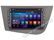 WITSON Quad Core Android 5.1 CAR DVD GPS for SEAT LEON car radio gps car stereo RK 3188(PX3) CPU 16GB Flash Memory+1024×600 HD