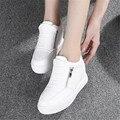 2017 Moda Otoño Mujeres Entrenadores Aumento Transpirable Mujer Zapatos Casuales Caminar Al Aire Libre Mujeres de Los Planos de Zapatillas Mujer