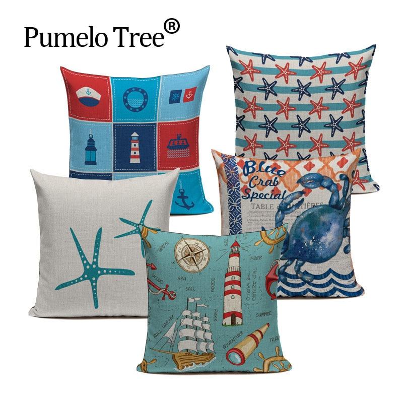 wholesale Geometric ocean Animal Style Patterns Cushion Cover Sofa Home Decor Throw Pillow Home Chair Car Pillow Case custom