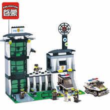 ENLIGHTEN 589Pcs City Series Explosion Police Station Model Building Blocks Sets Assembling Bricks Boys Toys Christmas
