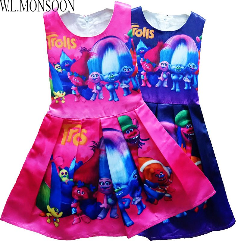 hot sale girls print dresses 2016 new brand robe reine des neiges enfant children cotton. Black Bedroom Furniture Sets. Home Design Ideas
