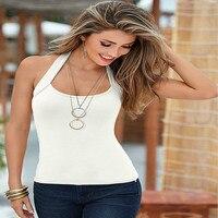Summer Women Fashion Sleeveless Beach Top Halter T Shirts Casual T-shirt Female Tops