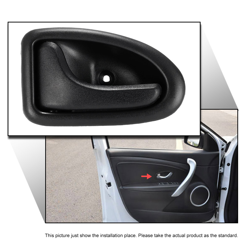 SI A0029 Left Black Car Interior Door Knob Hand Grip Handle Car Door ...