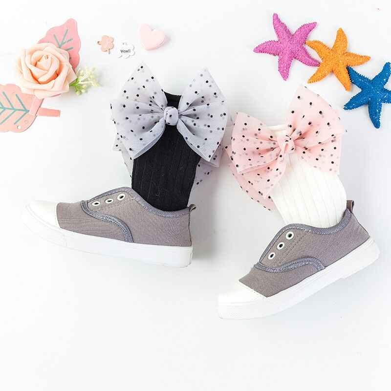 אופנה ילדים גרב עבור בנות נסיכת גרבי עם קשתות הברך גבוהה תינוק גרביים לילדים צבעים בוהקים יילוד תינוקות כותנה גרב