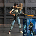 18cm NECA 30th Anniversary Aliens Rescuing Newt Deluxe Set Vogue Ripley and Newt PVC Action Figure Toys Brinquedos