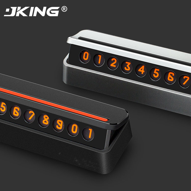 JKING DIY Car Parking Phone Number Board Universal Stand Move the number Call Temporary Parking Number & JKING DIY Car Parking Phone Number Board Universal Stand Move the ...