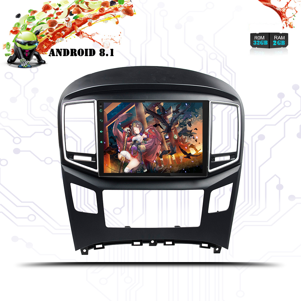 2 Din Android 8.1 Car Radio Audio Stereo Multimedia Player GPS Navigation For Hyundai H1/Starex/i800 Grand Starex 2016-2018 GPS