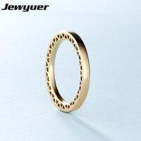Осень Сердце Золотое кольцо Обручальные кольца для женщин Мужчины любят anillos тонкой 925 серебряные ювелирные изделия Jewyuer оптовая продажа