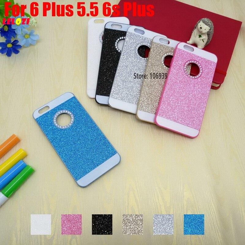 LELOZI Deluxe Vintage New Luxury Bling Shinning Glitter Hard PC Capinha Etui Case Cover For iPhone 6 Plus 5.5 6s Pink Blue White
