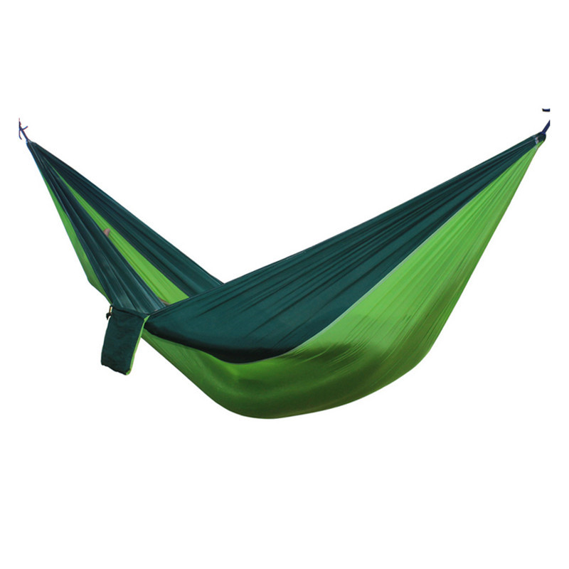 Best 2 People Portable Parachute Hammock for outdoor Camping(Fruit green with green edge ) 270*140 cm 2 people portable parachute hammock camping survival garden flyknit hunting leisure hamac travel for outdoor camping 270 140 cm