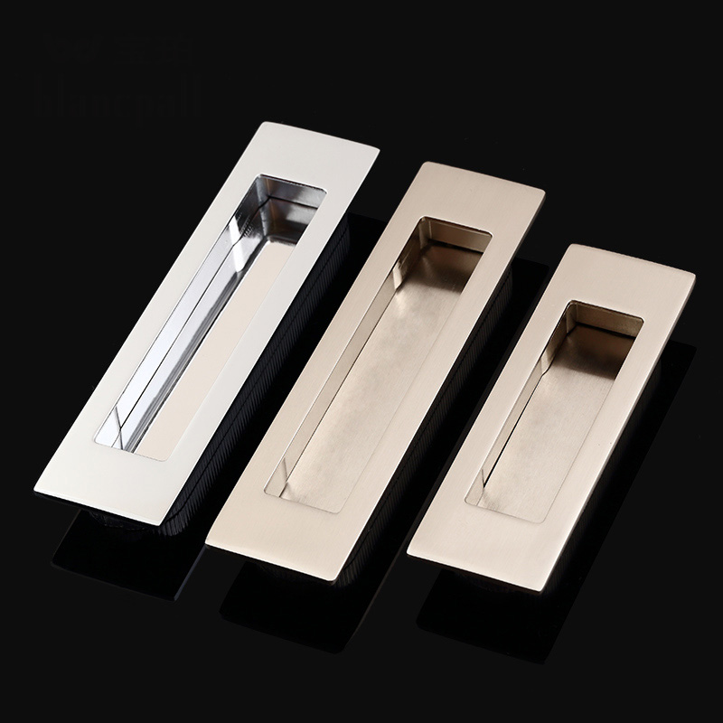 HOT 10PCS European Hidden Embedded Kitchen Sliding Door Handles Cupboard Wardrobe Drawer Cabinet Invisible Pulls Handles & Knobs