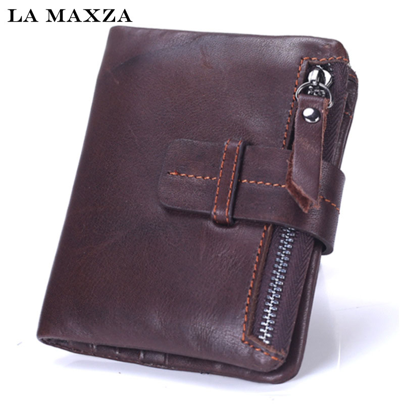 New Brand men wallets dollar price purse Genuine leather wallet card holder designer clutch business mini wallet high quality dollar price new european and american ultra thin leather purse large zip clutch oil wax leather wallet portefeuille femme cuir