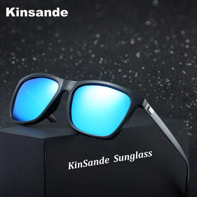 1a7e5323e1fe2c KINSANDE Merk Aluminium Zonnebril Mannen Gepolariseerde Glazen Vintage  Vierkante Eyewear Vrouwen UV400 Mode Rijden Bril