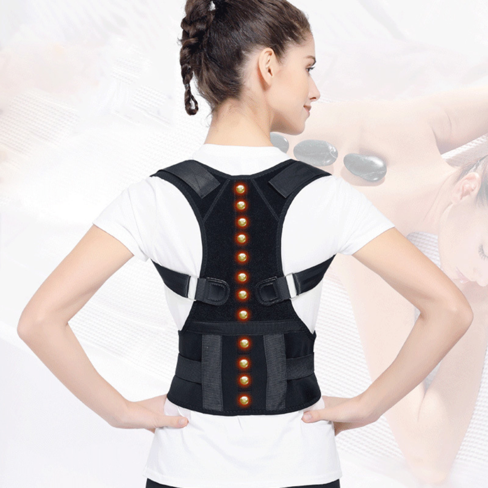 L/M/S Magnetic Therapy Posture Corrector Support Back Shoulder Brace Belt Adjustable Unisex Improve Hunchback Prevents Slouching