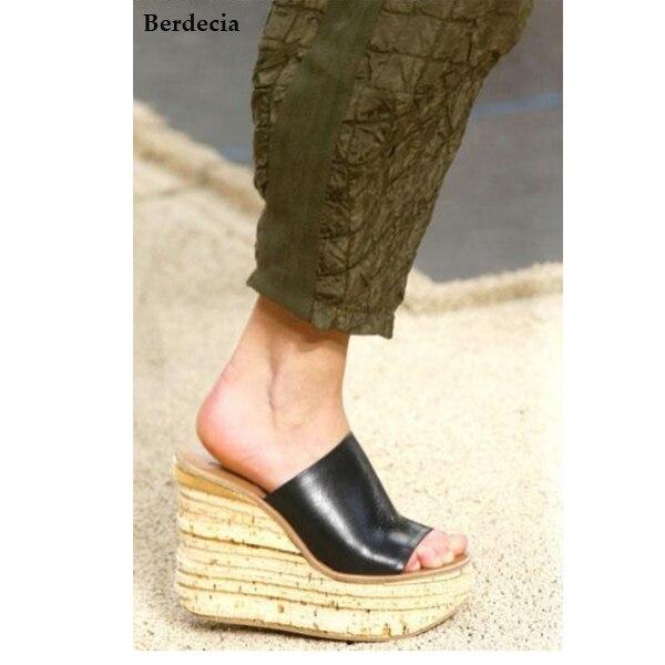 Cow Suede Summer Style Sandals Fashion Casual Ladies Slippers High Quality Wedges Platform Flip Flops Women Shoes Slides Plus slketu gladiator sandals summer style flip flops elegant platform shoes woman pearl wedges sandals casual women shoes st529 5