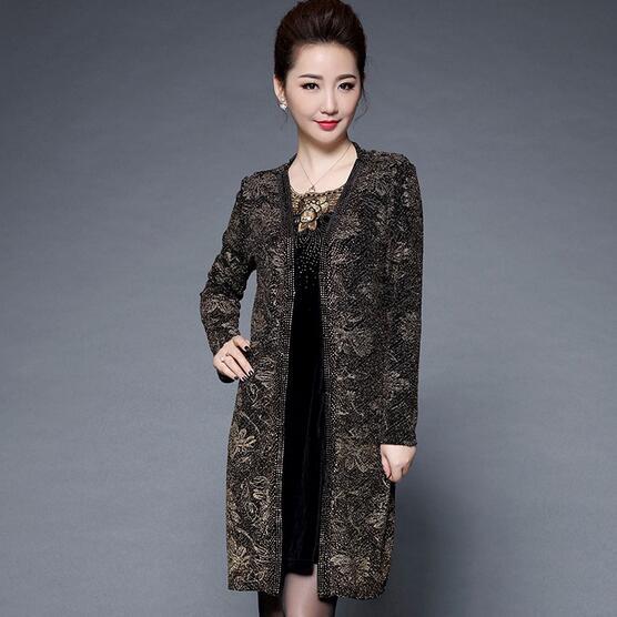 Vêtements Chinois Dc550 âge Robes À Automne Velours Longues Manches Midi Plus Legant La Moyen Taille Vintage Robe Femmes Imprimer AF5CwTq