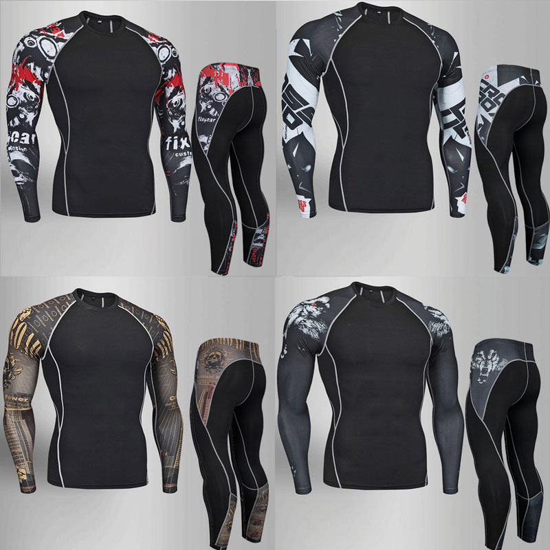09287ed726 2018 marca Mens underwear conjunto de roupa interior térmica compressão  treino velo suor Aptidão thermo cueca