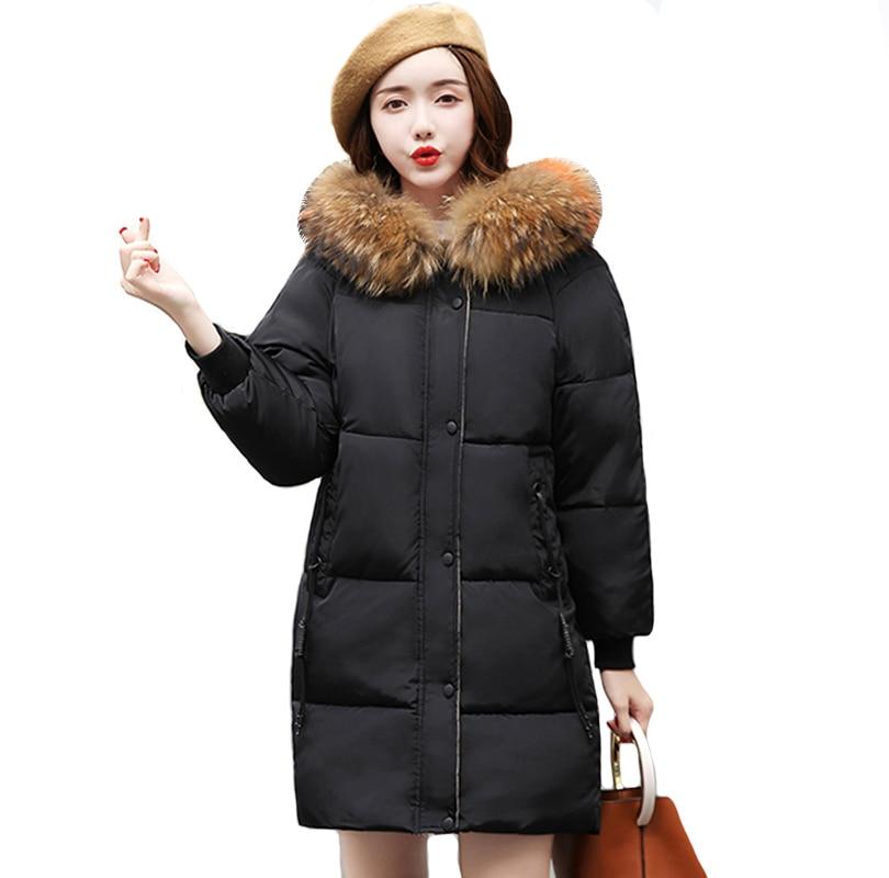 Faux De Fourrure Parkas Femmes Vers Le Bas Veste Nouveau 2018 Veste D'hiver Femmes Épaisse Usure De Neige Manteau D'hiver Dame Vêtements Femme Vestes parkas