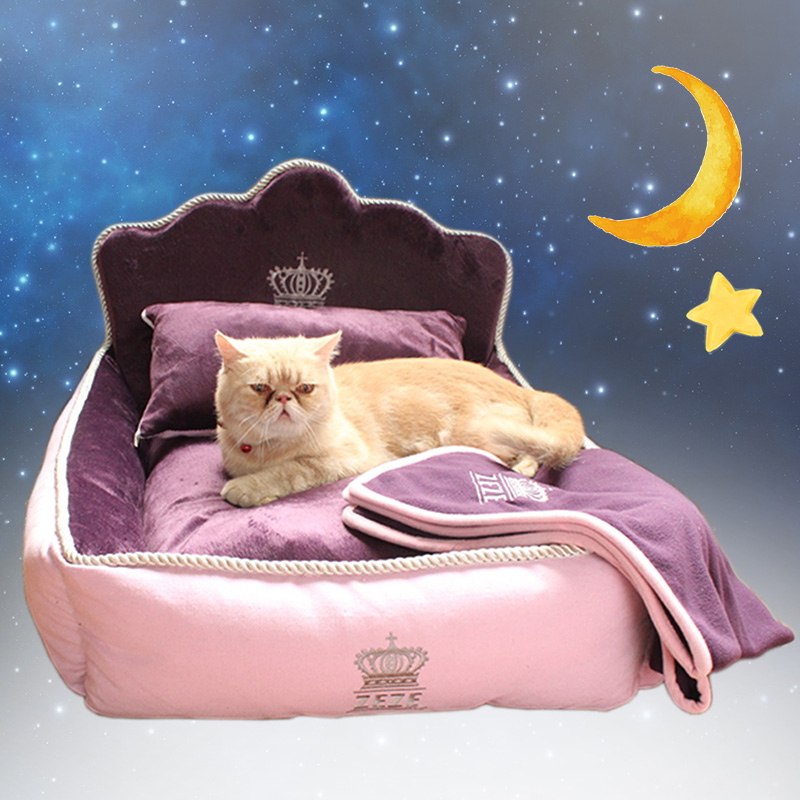 Luxury Noble Princess Dog Bed With Pillow Blanket Washable Pet Bed Cat Bed Mat Sofa Dog House Nest Sleep Cushion Kennel