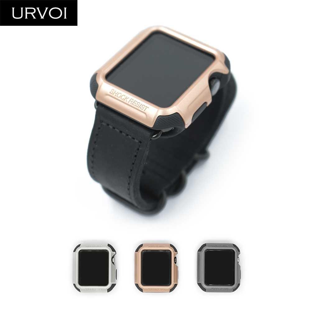 Чехол URVOI для Apple Watch series 3 2 1 pc жесткий защитный силиконовый чехол iWatch