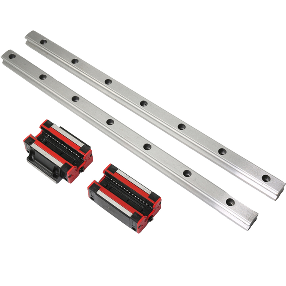 1PCS Square Rail Track Linear Guide Heavy Duty Slide Slide Block Slider HGH/HGW 15/20/25/30/35 CA/HA