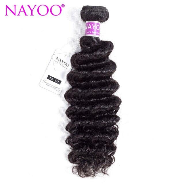 Nayoo Deep Wave Brazilian Hair Weave Bundles 8 26inch Hair