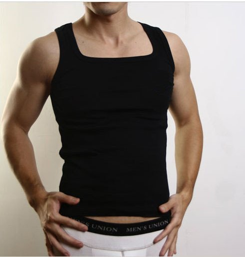 6c562edd9cbc Customize Plus Size Men's A-shirt / Men's Bodysuit Undershirt/ Men's Muscle Tank  Top+Free shipping