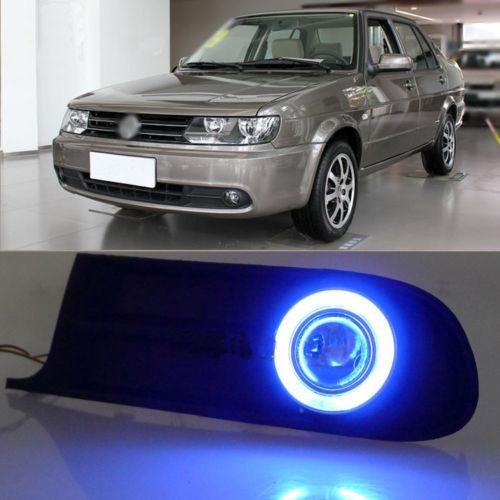 Ownsun точной подгонки супер cob Противотуманные фары Ангел глаз бампер проектор для Фольксвагена Jetta 2010-2012