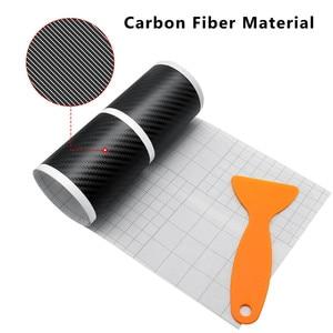Image 4 - Placa de puerta de fibra de carbono para coche pegatinas antiarañazos para Toyota Corolla, Seat Leon, Jeep, Fiat, Skoda, Fabia, Rapid Renault, plumero, 4 Uds.