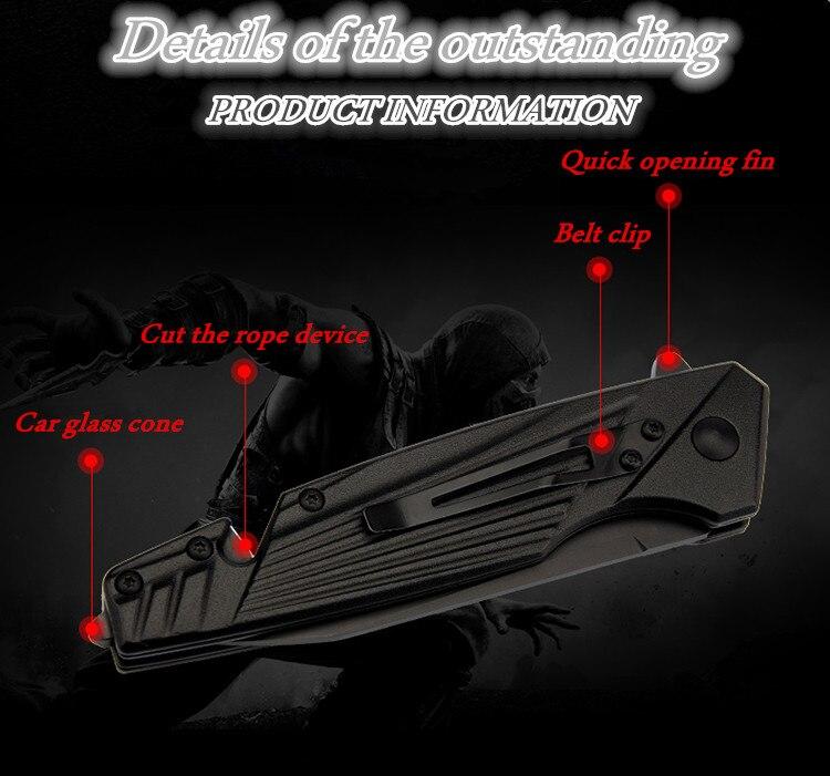 Купить с кэшбэком 2020 New Free Shipping Fixed Pocket Aluminum Handle Combat Hunting Knife Camping Survival  Tactical Folding Knives EDC Tools