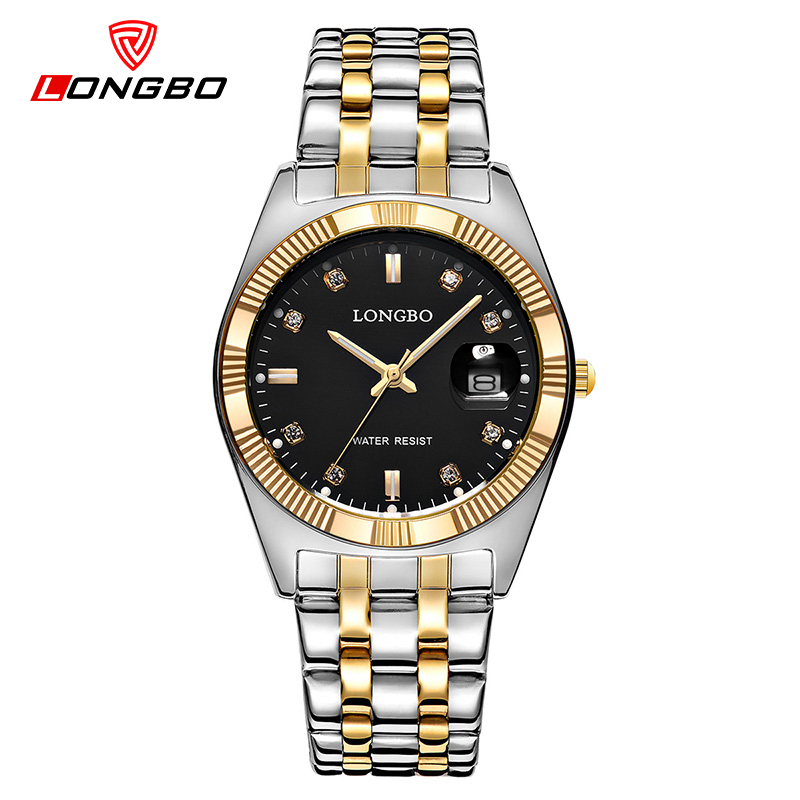LONGBO Top Brand Luxury Gold Quartz Watches Men Fashion Casual Wristwatches Classic Men Watch Golden Clocks Relogio Masculino цена и фото