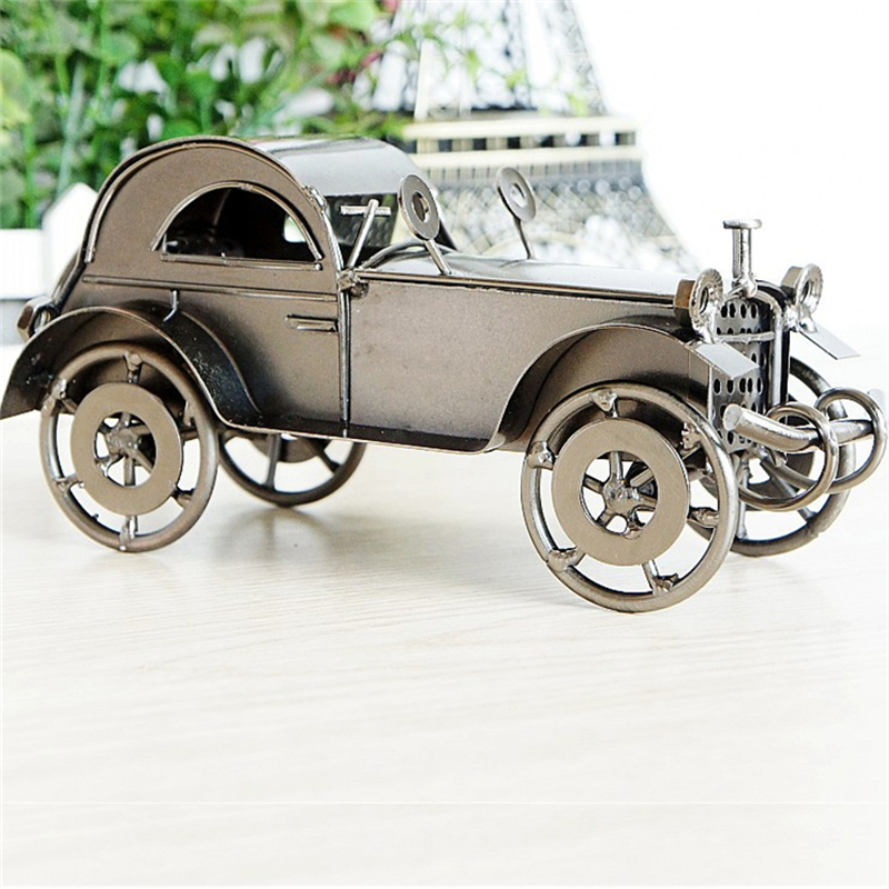Two color Black Bronze Antique Car Model Craft Iron Material Old ...