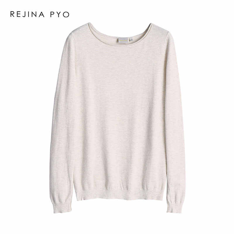 REJINAPYO Women Casual Comfortable Thin Sweatshirt O-neck Female All-match Basic Pullovers Ladies Everyday Sweatshirts