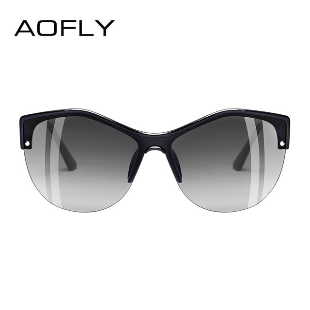 AOFLY BRAND DESIGN Women Cat eye Sunglasses 2018 Female Retro Style Shades UV400 Oculos de sol Feminino A113 2
